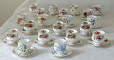 Collection - 20 Cup and saucers Royal Albert and other English Bone China