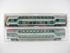 Fleischmann H0 - 5123/5122 - 2x double-decker coach of the DB, including control car [512]