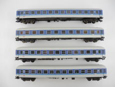 "Fleischmann H0 -5672/5177/-78 - 4-piece passenger train ""IC"" of the DB in blue/white [515]"
