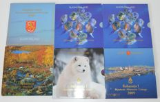 Finland - Year sets 2001, 2002, 2003, 2005, and 2009 (6 pieces in total)