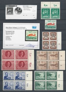 German Empire 1940/1944 - Selection of plate flaws and HAN numbers - Michel 716 HAN, 750VI, 769I, 847I, 886III, 888II, 891III