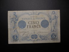 France - 5 francs black - type 1871 - Fév. 1872 - Fayette 1.3