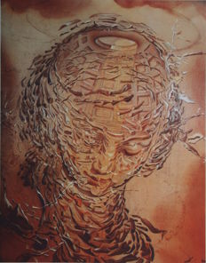 Salvador Dalí (after) - Raphaelesque Head Exploding