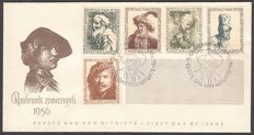 The Netherlands 1956 - FDC Summer Rembrandt - NVPH E25a, with inspection befund