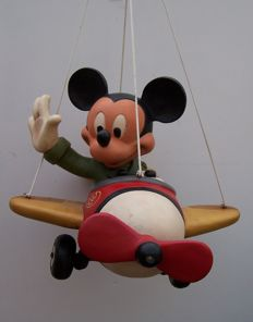 Disney, Walt - Figure - Mickey Mouse as pilot in red plane (c. 1980)