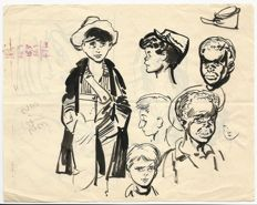 Tarquinio, Sergio - Sketch with various characters - 1940s