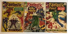 Marvel Comics - Fantastic Four - Issues #59, #60 & #61 - Featuring The Inhumans & Dr Doom - 1st Print - 3x SC - (1967)