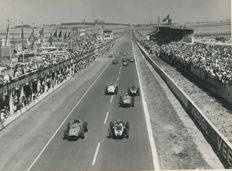 1959 Reims French Grand Prix Start Ferrari period photograph
