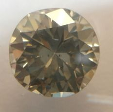 0.76 Ct. Yellowish Grey / SI1 , Diamamant/Brillantschliff