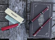 A Waterman Flair Lady and 2 Lacquered Pens in Original Packaging
