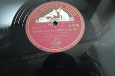 24 78 rpm records, partly with sleeves, 12 inch, classical music from different countries