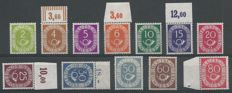 Federal Republic of Germany 1951/1952 - Postal horn - Michel 123/126, 128/132, 134/135, 137