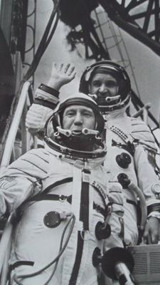 First Russian-American space flight