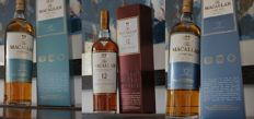 3 bottles - The Macallan 15 Fine Oak, 12 Fine Oak & 12 Sherry Oak