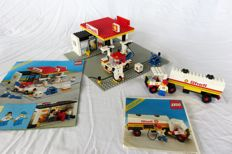 Classic Town - 6378 + 6695 - Shell Service Station + Shell Tanker