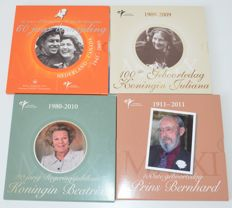 "The Netherlands - year sets 2005-2010, ""Themed Sets Royal Dutch Mint"" (four sets in total)"