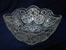 Baccarat crystal bowl - signed - circa 1900