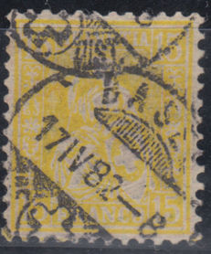 Switzerland 1881 - Helvetia seated 15 Rp. yellow - Michel 39