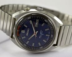 "Seiko ""Bellmatic"" (Alarm) Blue Men's Wristwatch - circa 1970s"