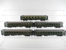 Roco H0/44439 and others - 5-piece set passenger carriages type Hecht (= Pike) of the DB [477]