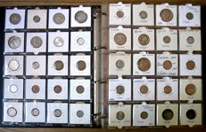 America, Asia and Oceania - Collection of various coins 1864/1994 (340 different coins) including 30 x silver in album