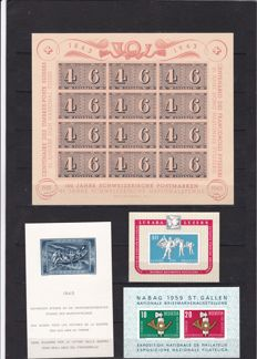 Switzerland 1936/1959 - Selection of blocks