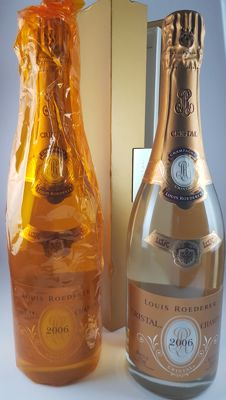 2006 Louis Roederer Cristal Champagne - 2 bottles (75cl) with 1 in original giftbox