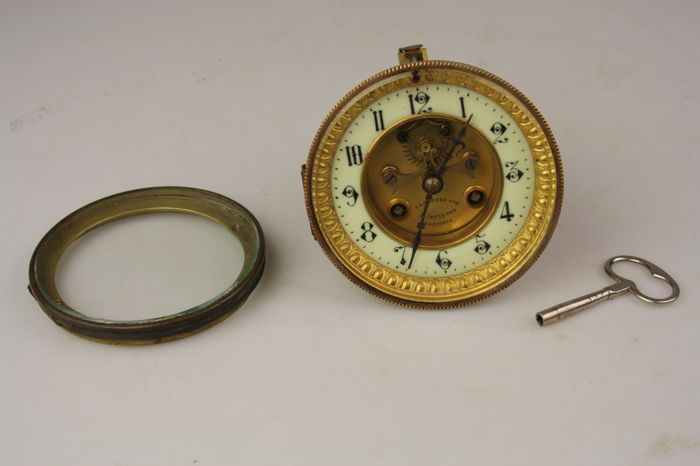 French pendulum movement with brocot escapement - around 1900