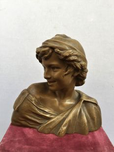 After François Rude (1774-1855) - Jeune pêcheur Napolitain in patinated terracotta - France - late 19th century