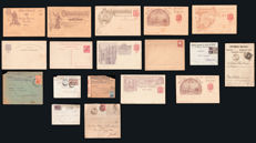 Portugal and Colonies 1860–1940 - Lot with 19 letters and postal stationery.
