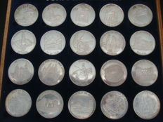 Expo 98 - Silver Coins Collection - Major Cities in  Portugal