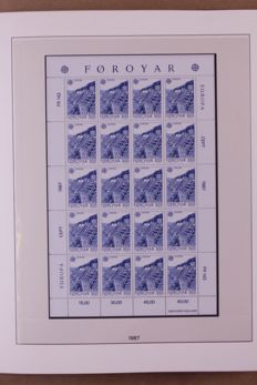 Europa Stamps 1987/1989 - Complete collection of sheetlets in a Lindner Falzlos T-type preprint album
