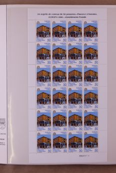 Europa Stamps 1990/1991 - Complete collection of sheetlets in a Lindner Falzlos T-type preprint album