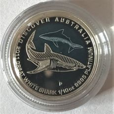 Australia - 15 Dollar 2011 White Shark'' - 1/10 oz platinum