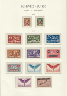 Switzerland 1919/1949 - Airmail collection.