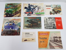 Märklin Books - Three catalogues, signal books, course tracks brochure