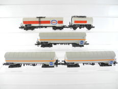 Roco H0-46200/and others - 5-piece tanker train of the DB [492]