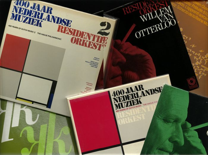 Rare lot of albums by The Dutch Residence Orchestra lot of four albums and two album boxes - Includes this way rare Willem van Otterloo and the Residence Orchestra promotional ('present') copies