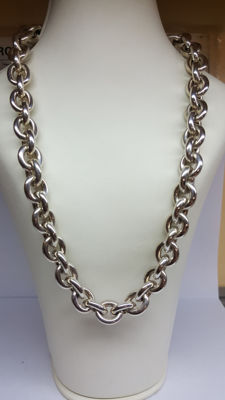 925 silver rolo link necklace