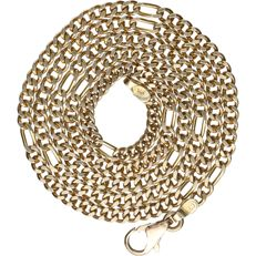 14 kt - Yellow gold, curb link necklace - Length: 47 cm