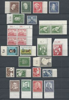Federal Republic of Germany 1951/1953 - Selection 1950s - Michel 143/146, 149, 150, 151(2x), 152(4x), 153/154, 155, 160, 163, 165, 167/170, 173/176