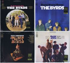 The Byrds - Lot of 4 LP's: Mr. Tambourine Man, Turn Turn Turn, Younger Than Yesterday, Fifth Dimension | Sundazed Records with Gatefold covers and bonus-tracks