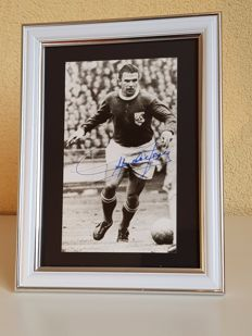 Ferenc Puskas (RIP) - Real Madrid legend - hand signed framed photo + COA.