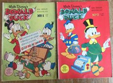 Donald Duck weekly magazine - Years 1959 + 1960 (complete) - 105x sc - 1st edition - (1959/1960)