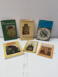 Literature; lot of 6 books about clocks - 1967/1978