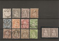 Switzerland 1862/1881 - sitting Helvetia, small collection