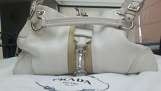 Prada - large, leather shoulder bag – **No minimum price**