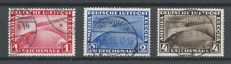"German Reich 1933 - Airmail Graf Zeppelin ""Chicagofahrt"" - Michel 496/498"