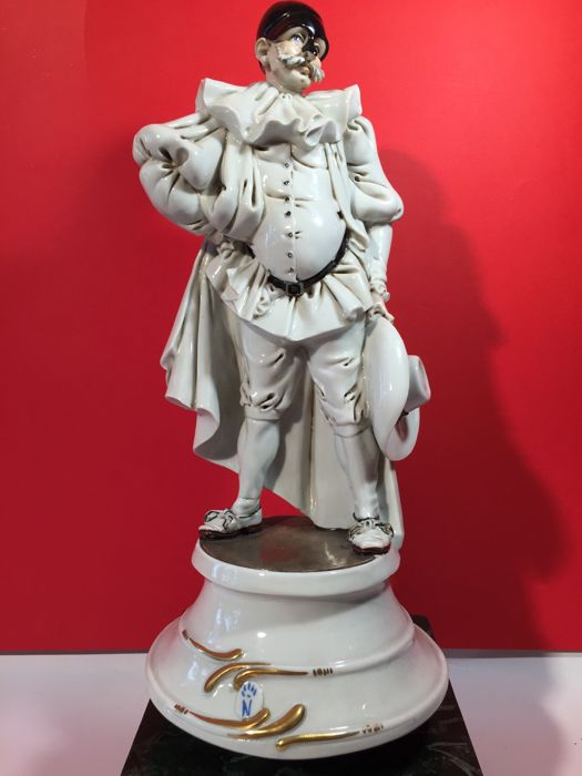 Capodimonte, Roberto Branbilla, Wonderful Balordo Porcelain Sculpture