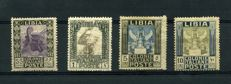 Kingdom of Italy, 1921 - Libya - Pictorial c. 55 – £ 1 – £ 5 – £ 10  – Sass. No. 29/32